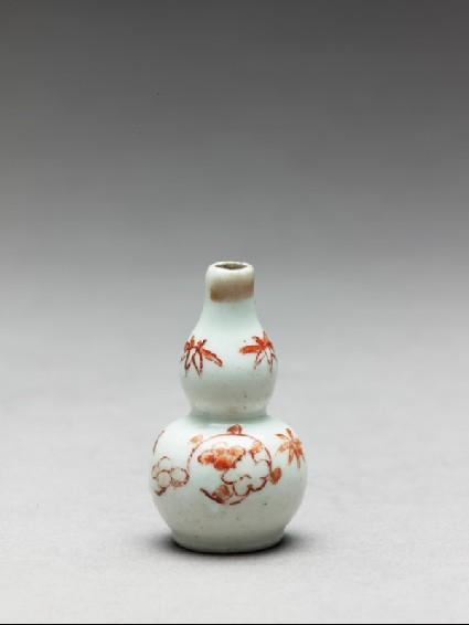 Miniature bottle in double-gourd formside