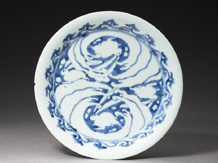 Plate with rabbits and wavestop