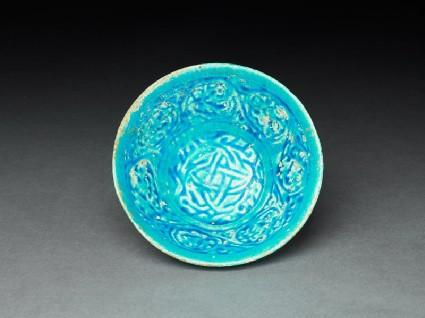 Bowl with vegetal decorationtop