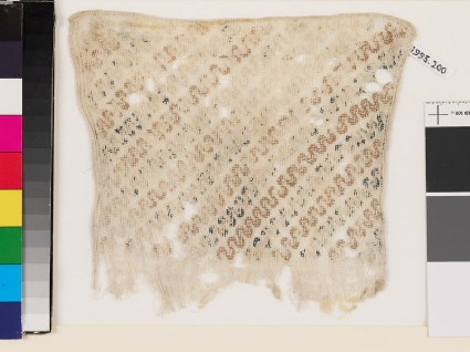 Textile fragment with wave pattern, probably from a sashfront