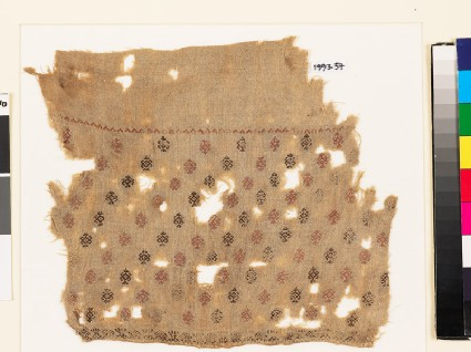Textile fragment with geometric shapes, probably from a tunicfront