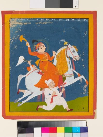 Equestrian portrait of Maharana Bhim Singh of Mewarfront