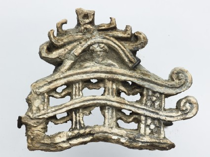 Fragment of a model torana, or gateway to a stupafront