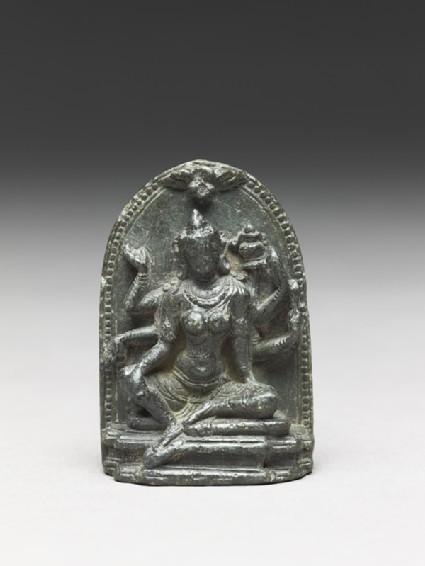 Seated figure of the goddess Vasudharafront