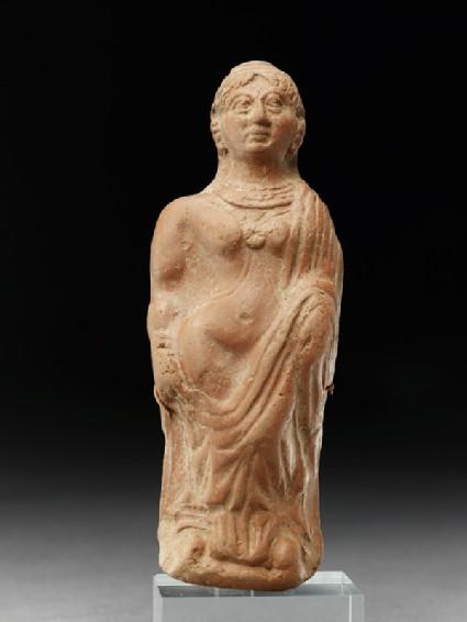 Plaque with semi-draped female figurefront