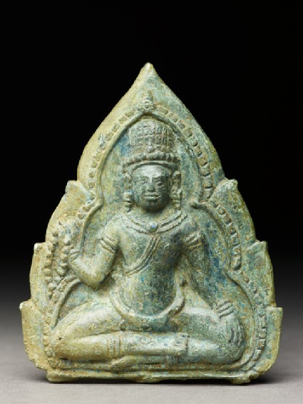 Plaque with a seated bodhisattvafront