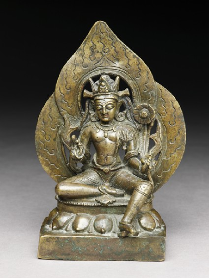 Seated figure of Padmapanifront