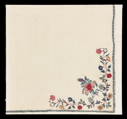 Shawl border fragment with floral designfront