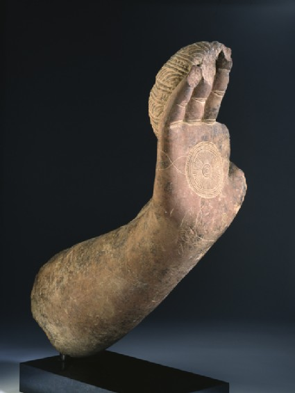 Fragmentary hand and forearm from the Buddhaside