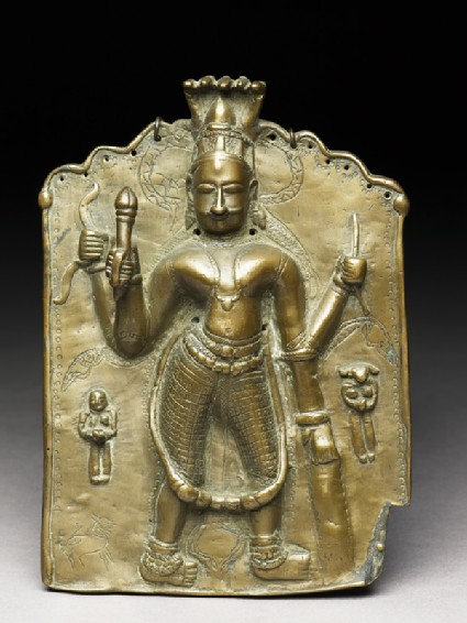 Bronze plaque of Virabhadrafront