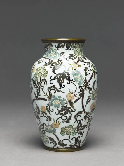 Baluster vase with stylized flowersside
