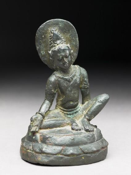 Seated figure of Avalokiteshvaraoblique