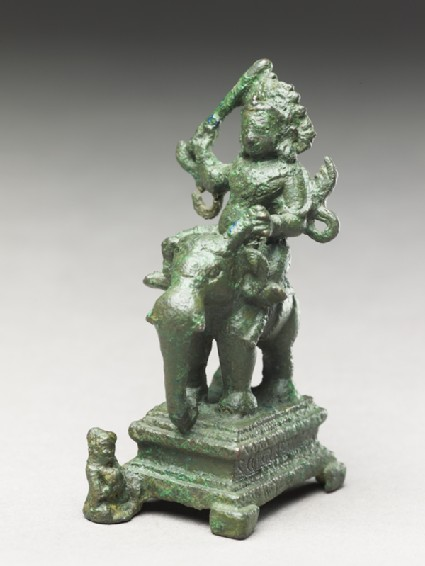 Figure of Indra, god of rain, storms, and waroblique