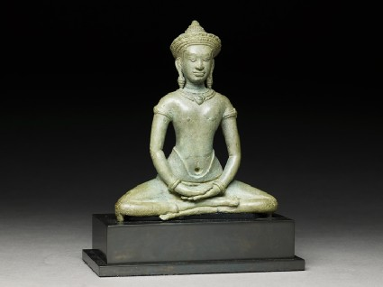 Seated figure of the Buddhaside