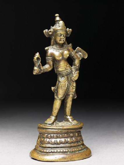 Figure of a bodhisattva, probably Manjushriside