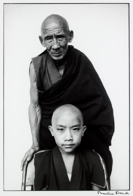 Tenzin Tosam Rinpoche with his tutorfront