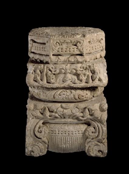 Pillar capital from a templeoblique