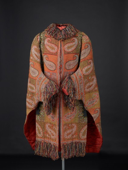 English lady's surcoat made of Kashmir shawl piecesfront
