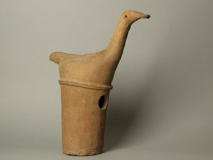 Haniwa figure of a long-necked birdside