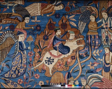 Carpet depicting the Mi'raj, or ascensiondetail