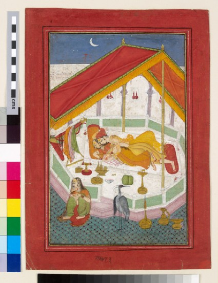 Lovers sleeping on a terracefront