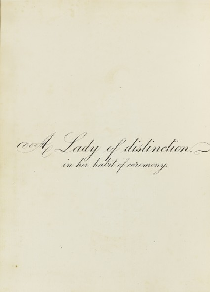 A Lady of Distinction in Her Habit of Ceremonyfront