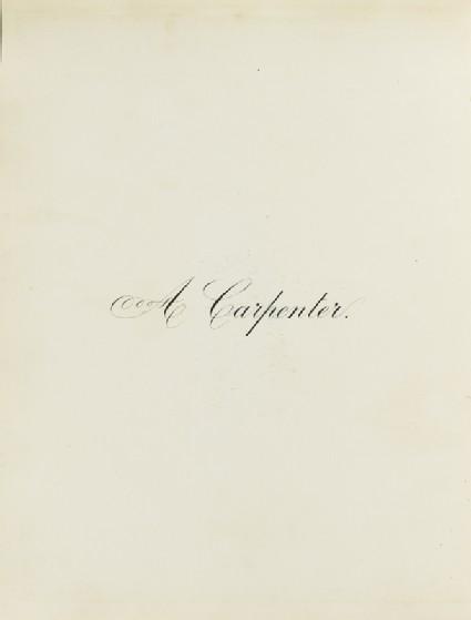 A Carpenterfront