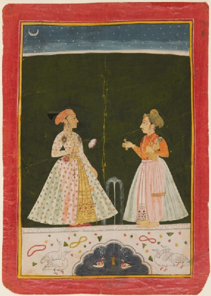 Prince Amar Singh with his infant sonfront