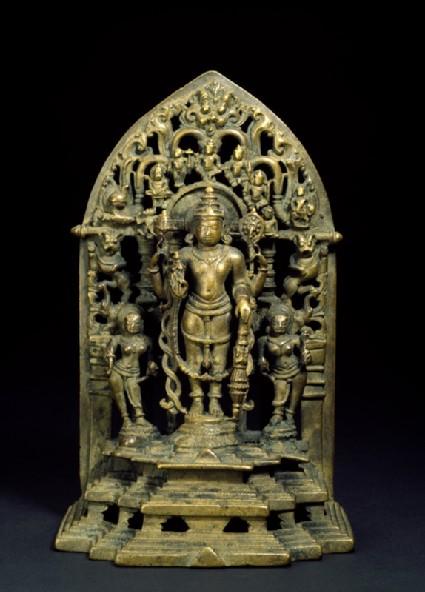 Shrine with figure of Vishnufront