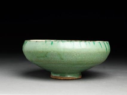 Bowl with green splashesside