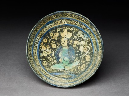 Bowl with seated figuretop