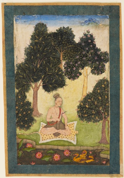 Yogini in the forestfront