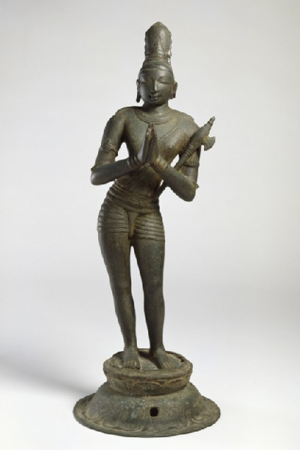 Figure of the saint Chandikeshvarafront