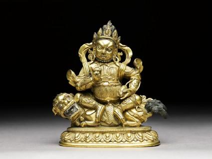 Figure of Vaishravana on a lionfront