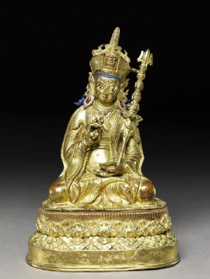 Figure of Padmasambhava, the founder of Tibetan Buddhismfront