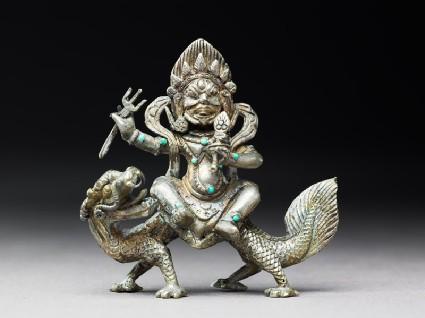 Figure of Sitajambhala on a dragonfront