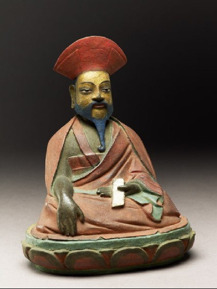 Seated figure of a philosopher, possibly Nagarjunaside