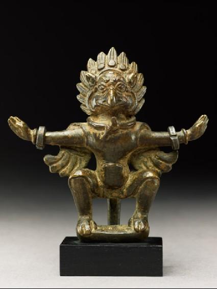 Figure of a bird deityfront