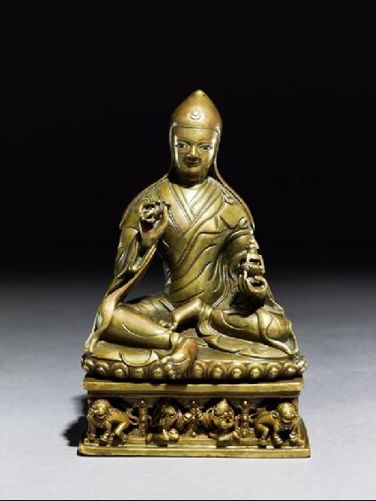 Seated figure of a lamaside