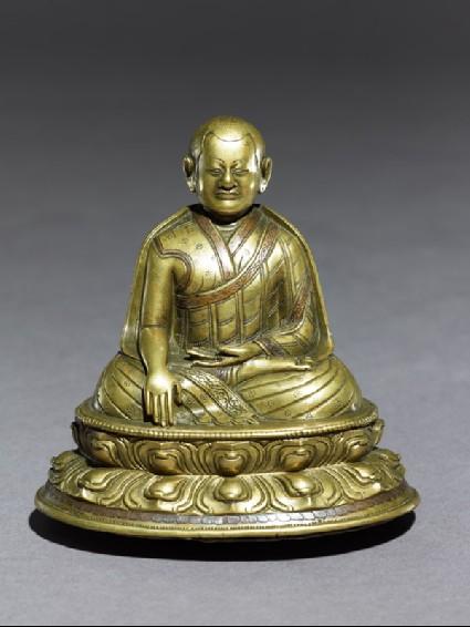 Seated figure of a lamaoblique