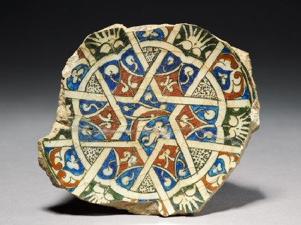Base fragment of a bowl with startop