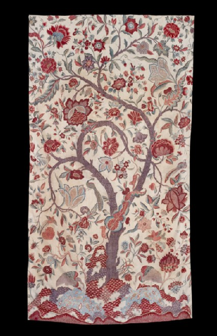 Fragment of a palampore, or bed cover, with tree of lifefront