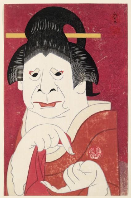 Onoe Baikō VII as the wet nurse Masaokafront