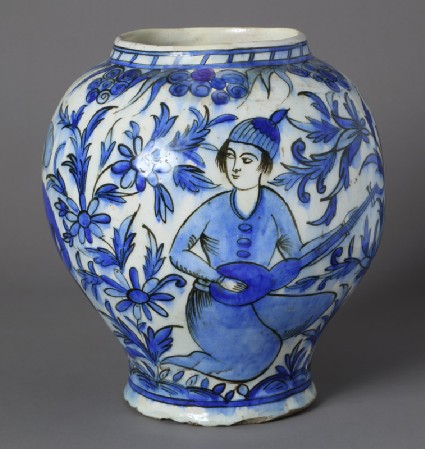 Jar with two youths in a landscapefront