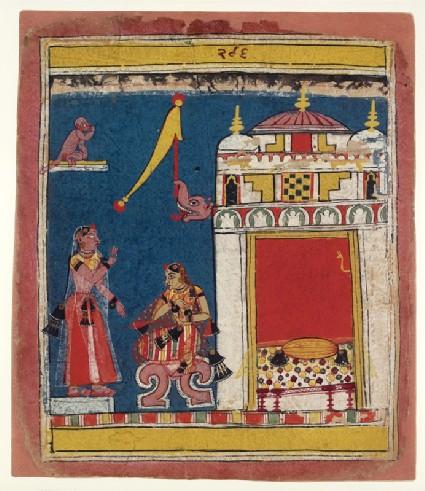 The sakhi, or confidante, addresses the nayikafront
