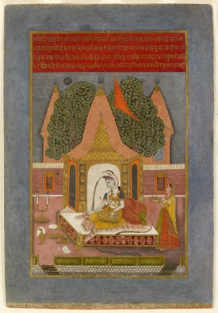 Shiva and Parvati at nightfront