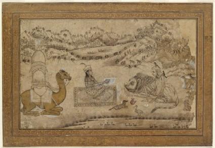Layla visits Majnun among the animalsfront