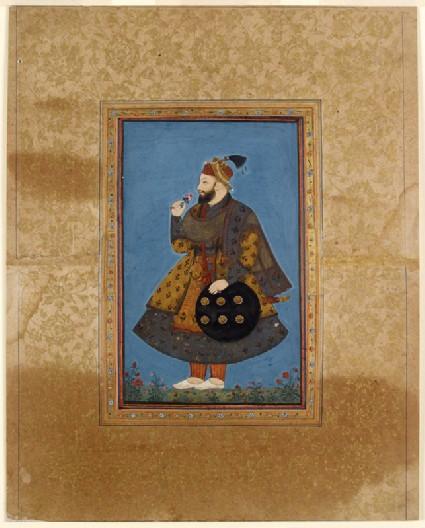 Standing portrait of Sultan Abu'l Hasan of Golcondafront