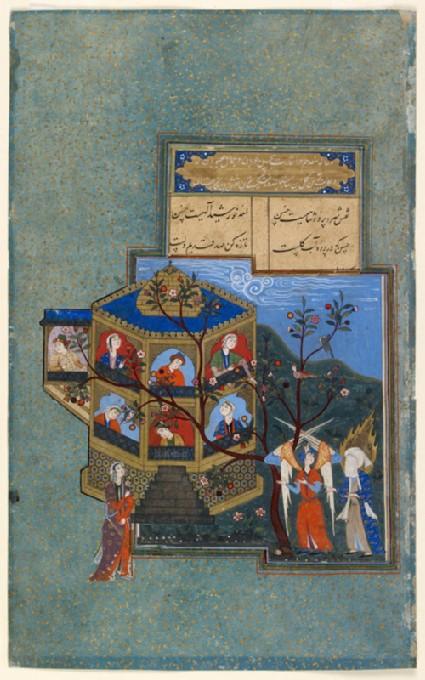 Muhammad and Jibril visiting paradisefront