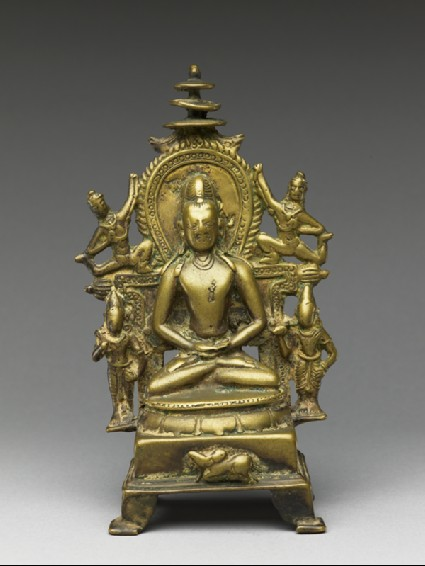 Figure of Rishabhanatha with attendantsfront